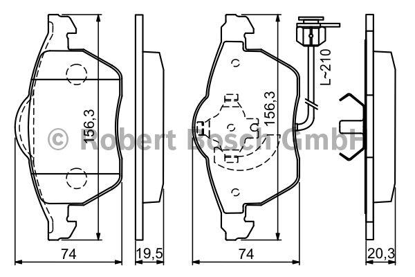 Kit de plaquettes de frein, frein à disque - BOSCH - 0 986 494 050