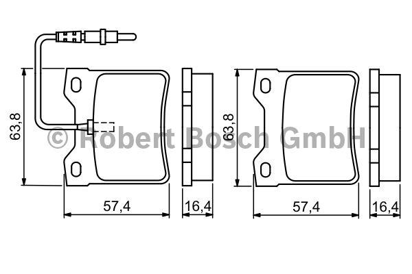 Kit de plaquettes de frein, frein à disque - BOSCH - 0 986 494 055