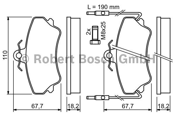 Kit de plaquettes de frein, frein à disque - BOSCH - 0 986 494 056