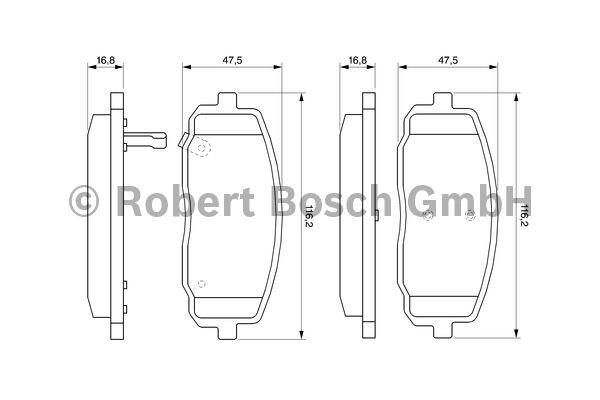 Kit de plaquettes de frein, frein à disque - BOSCH - 0 986 494 064