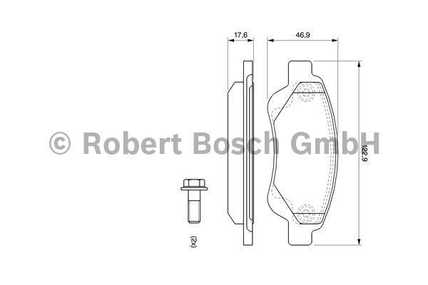 Kit de plaquettes de frein, frein à disque - BOSCH - 0 986 494 065