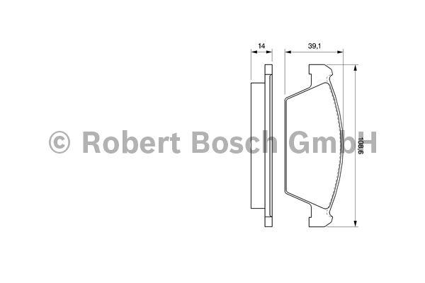 Kit de plaquettes de frein, frein à disque - BOSCH - 0 986 494 066