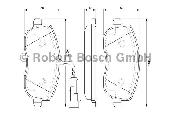 Kit de plaquettes de frein, frein à disque - BOSCH - 0 986 494 068