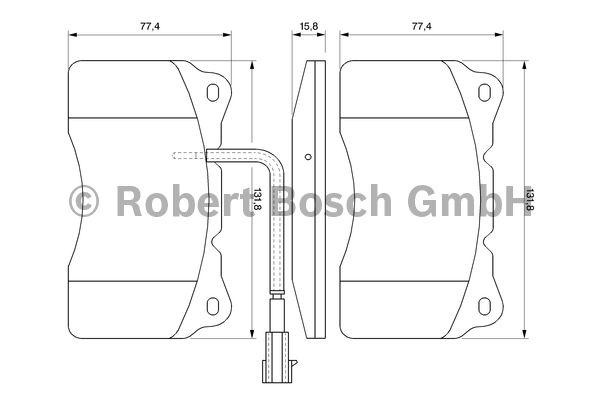 Kit de plaquettes de frein, frein à disque - BOSCH - 0 986 494 069