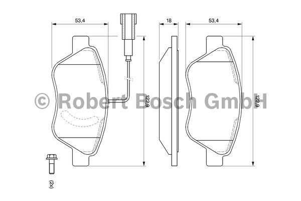 Kit de plaquettes de frein, frein à disque - BOSCH - 0 986 494 070