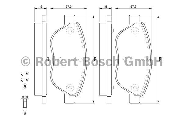 Kit de plaquettes de frein, frein à disque - BOSCH - 0 986 494 074