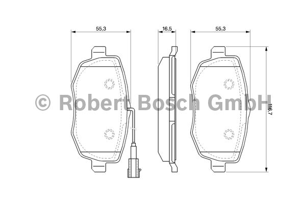 Kit de plaquettes de frein, frein à disque - BOSCH - 0 986 494 075