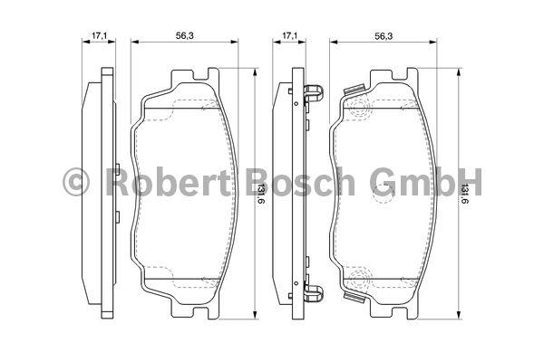 Kit de plaquettes de frein, frein à disque - BOSCH - 0 986 494 078