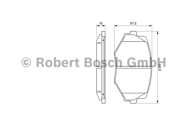 Kit de plaquettes de frein, frein à disque - BOSCH - 0 986 494 080