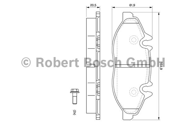 Kit de plaquettes de frein, frein à disque - BOSCH - 0 986 494 081