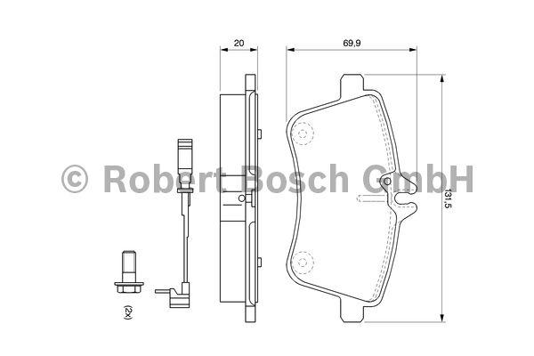 Kit de plaquettes de frein, frein à disque - BOSCH - 0 986 494 085