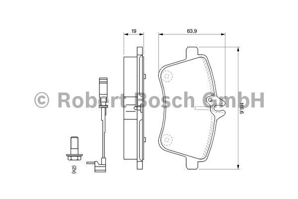 Kit de plaquettes de frein, frein à disque - BOSCH - 0 986 494 087