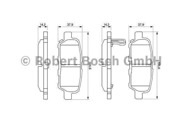 Kit de plaquettes de frein, frein à disque - BOSCH - 0 986 494 090