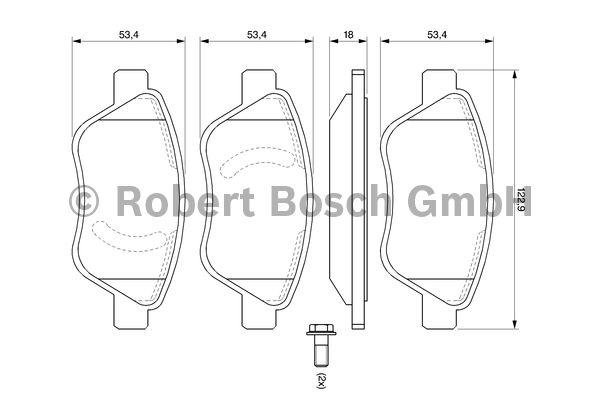 Kit de plaquettes de frein, frein à disque - BOSCH - 0 986 494 092
