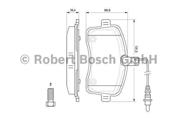 Kit de plaquettes de frein, frein à disque - BOSCH - 0 986 494 097