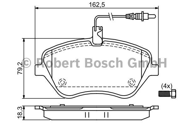 Kit de plaquettes de frein, frein à disque - BOSCH - 0 986 494 098