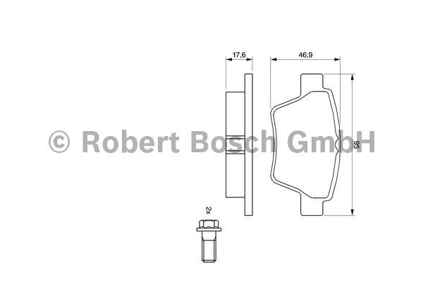Kit de plaquettes de frein, frein à disque - BOSCH - 0 986 494 099