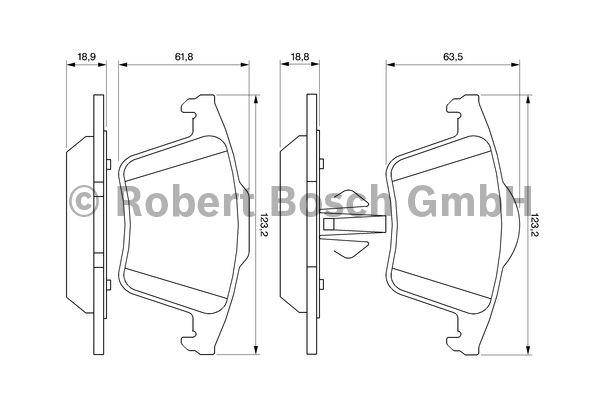 Kit de plaquettes de frein, frein à disque - BOSCH - 0 986 494 102
