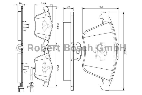 Kit de plaquettes de frein, frein à disque - BOSCH - 0 986 494 103