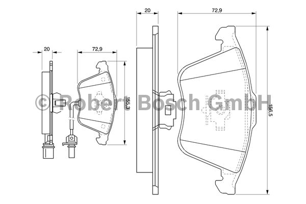 Kit de plaquettes de frein, frein à disque - BOSCH - 0 986 494 104