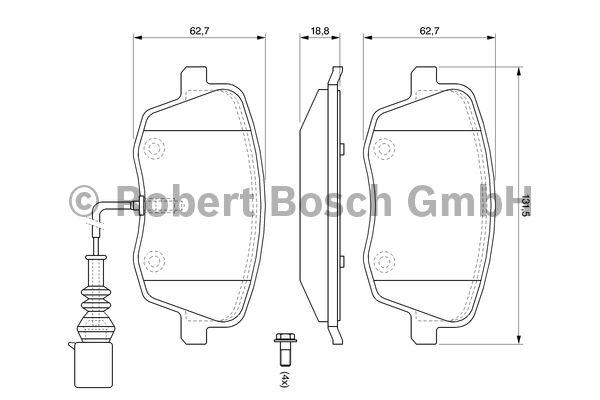 Kit de plaquettes de frein, frein à disque - BOSCH - 0 986 494 105