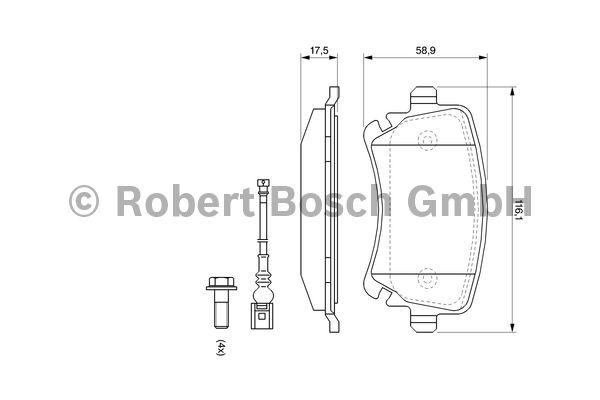 Kit de plaquettes de frein, frein à disque - BOSCH - 0 986 494 108