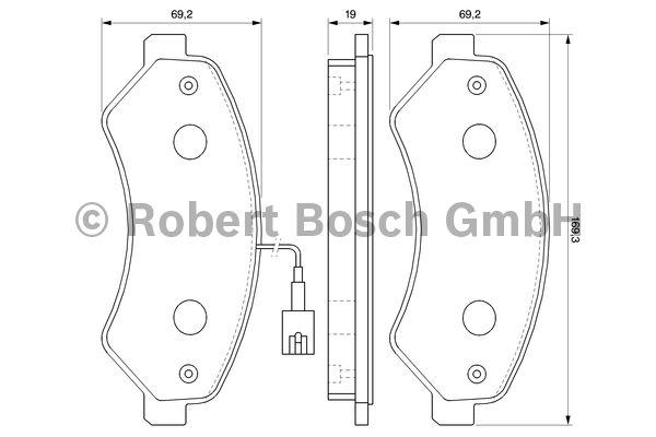 Kit de plaquettes de frein, frein à disque - BOSCH - 0 986 494 109