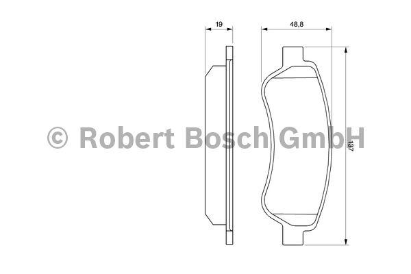 Kit de plaquettes de frein, frein à disque - BOSCH - 0 986 494 110