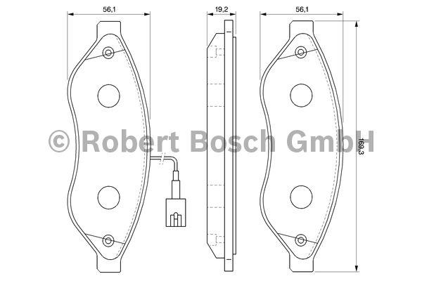 Kit de plaquettes de frein, frein à disque - BOSCH - 0 986 494 111