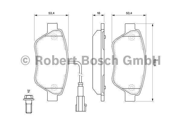 Kit de plaquettes de frein, frein à disque - BOSCH - 0 986 494 113