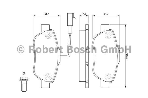 Kit de plaquettes de frein, frein à disque - BOSCH - 0 986 494 114