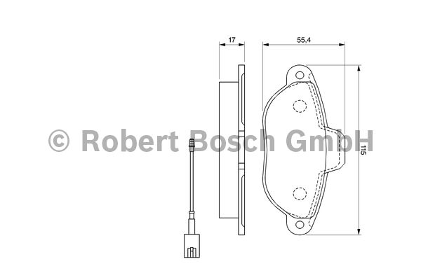 Kit de plaquettes de frein, frein à disque - BOSCH - 0 986 494 115