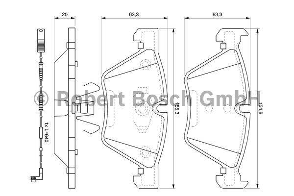 Kit de plaquettes de frein, frein à disque - BOSCH - 0 986 494 117
