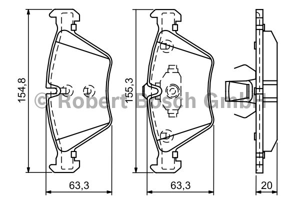 Kit de plaquettes de frein, frein à disque - BOSCH - 0 986 494 118