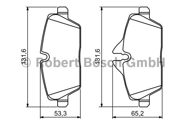 Kit de plaquettes de frein, frein à disque - BOSCH - 0 986 494 120