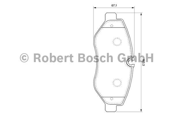 Kit de plaquettes de frein, frein à disque - BOSCH - 0 986 494 121