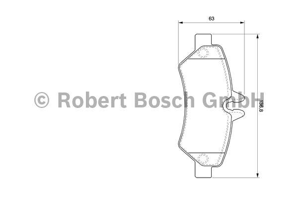 Kit de plaquettes de frein, frein à disque - BOSCH - 0 986 494 123