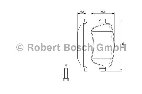 Kit de plaquettes de frein, frein à disque - BOSCH - 0 986 494 125