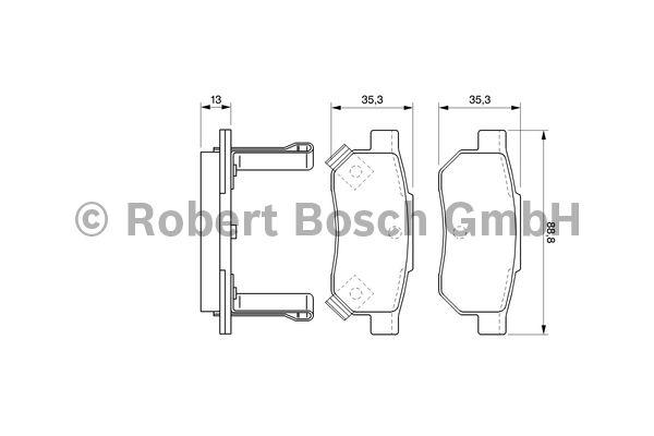 Kit de plaquettes de frein, frein à disque - BOSCH - 0 986 494 128