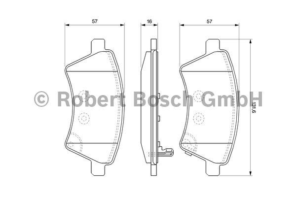 Kit de plaquettes de frein, frein à disque - BOSCH - 0 986 494 129
