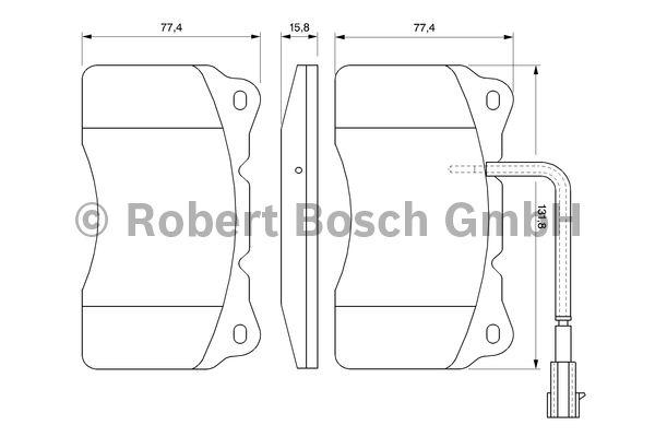 Kit de plaquettes de frein, frein à disque - BOSCH - 0 986 494 131