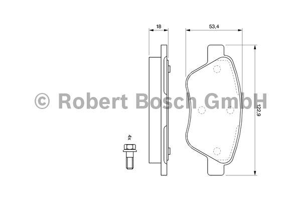 Kit de plaquettes de frein, frein à disque - BOSCH - 0 986 494 132