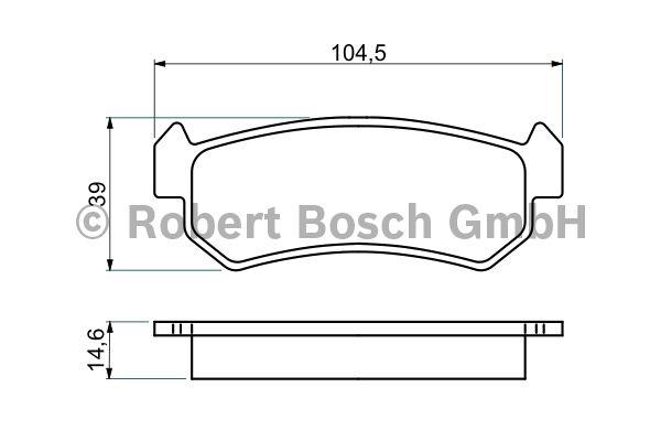 Kit de plaquettes de frein, frein à disque - BOSCH - 0 986 494 133