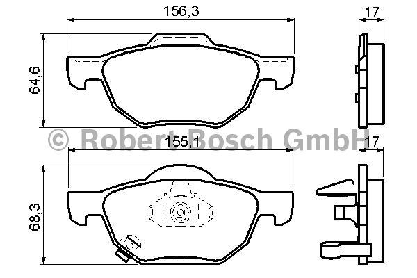 Kit de plaquettes de frein, frein à disque - BOSCH - 0 986 494 135