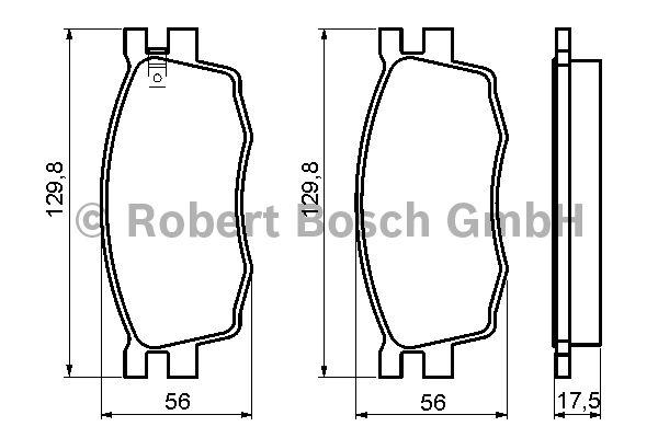 Kit de plaquettes de frein, frein à disque - BOSCH - 0 986 494 139