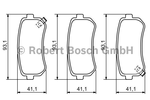 Kit de plaquettes de frein, frein à disque - BOSCH - 0 986 494 140