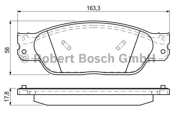 Kit de plaquettes de frein, frein à disque - BOSCH - 0 986 494 141