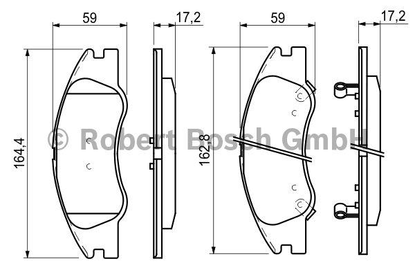 Kit de plaquettes de frein, frein à disque - BOSCH - 0 986 494 146