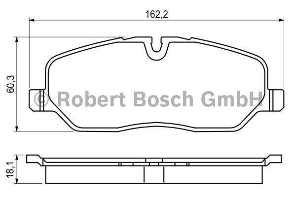 Kit de plaquettes de frein, frein à disque - BOSCH - 0 986 494 147