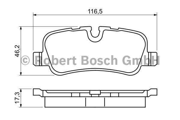Kit de plaquettes de frein, frein à disque - BOSCH - 0 986 494 148